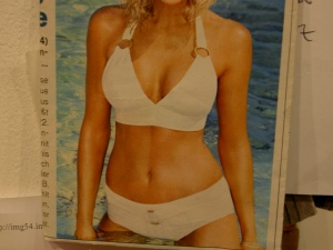 Bikini aus der Zeitschrift