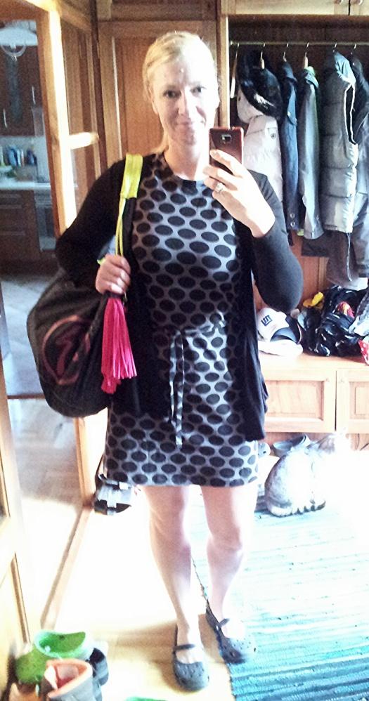 Basic Jerseykleid mit Gürtel0408_014109